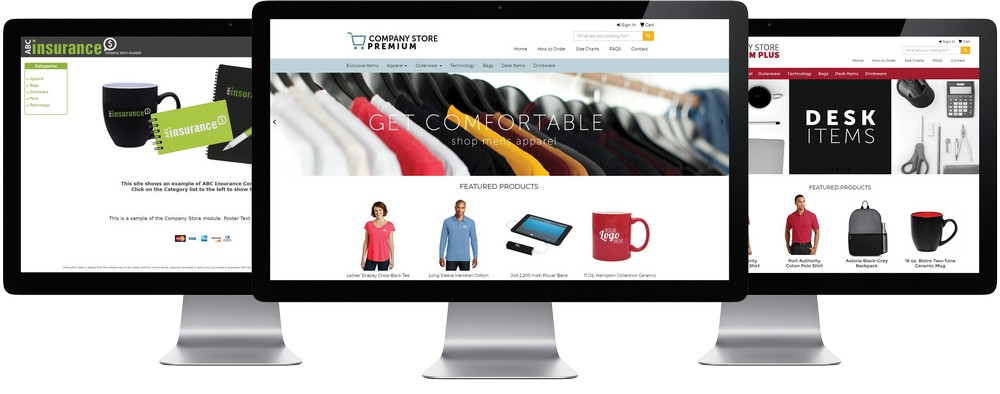 What are the benefits of online company stores?