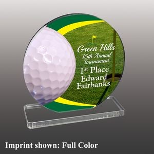 Golf Themed Full Color Acrylic Awards - Large